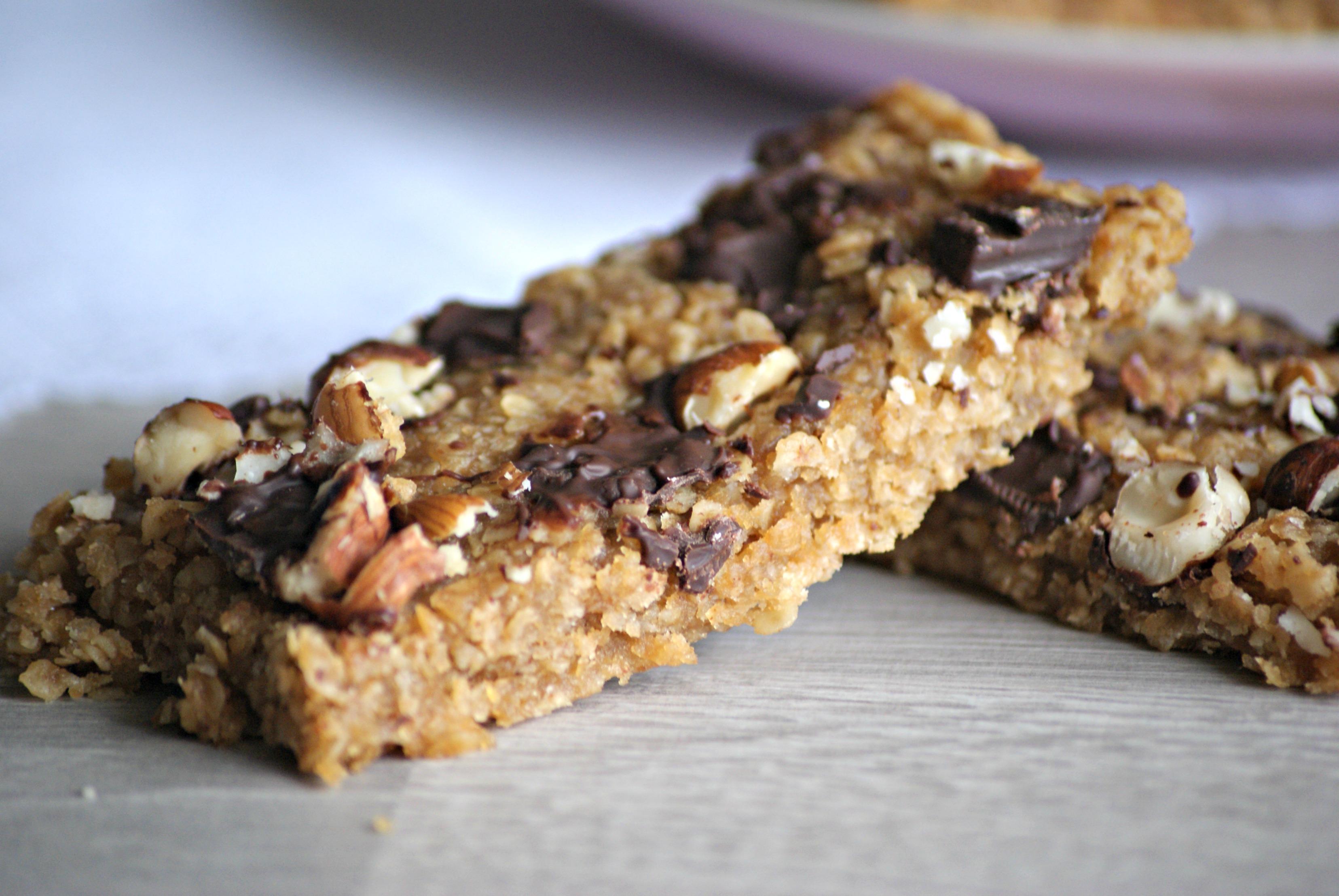barres de cereales proteinees au chocolat et aux amandes