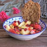 Salade de fraises aux fruits exotiques